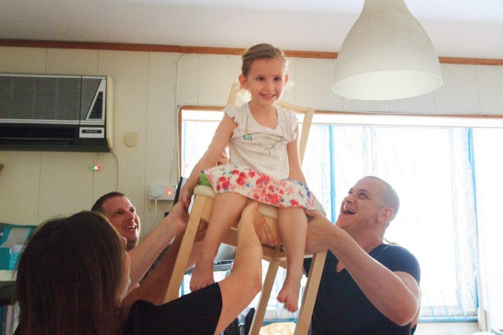 הרמה על כיסא ביום הולדת
